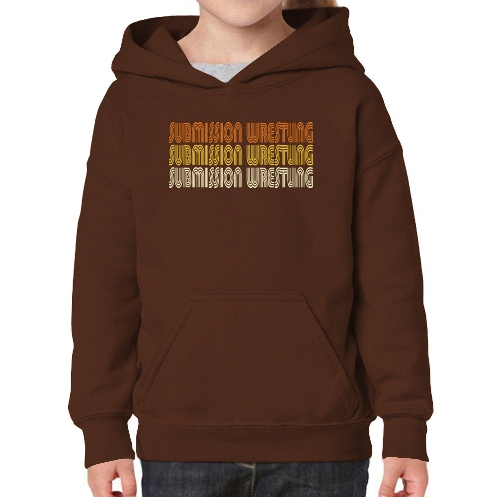 Teeburon Submission Wrestling Retro Color Girl Hoodie