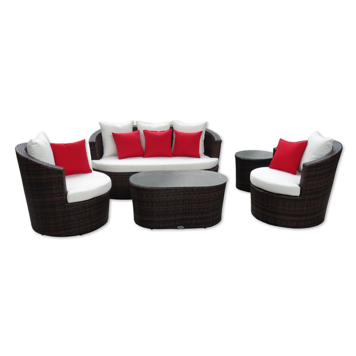 Rattan gartenm bel garten lounge set rundes design for Lounge set rattan gunstig