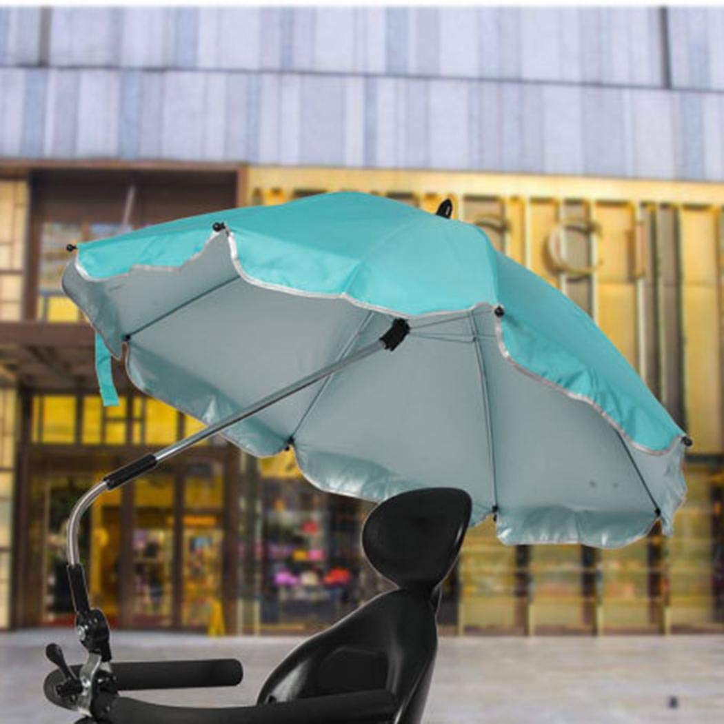 Baby Stroller Umbrella, Foldable Baby Carriages Wheelchair Pushchair Cover for Sun Rain Protection UV Rays Outdoor Umbrella by KOKOBUY (Image #4)