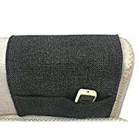 Greenery-GRE 4 Pockets Sofa Armrest Organizer Couch Chair Double Sided Waterproof Caddy Organiser TV Remote Control Magazine Book Newspaper Phone Holder Storage Bag (Black+Grey, Cotton Linen)