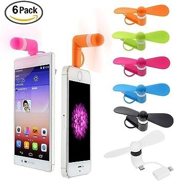 BESTZY Mini USB Phone Fan Portable 2 in1 Micro USB Fan for iPhone ...