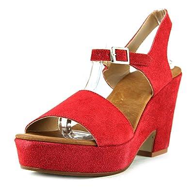 19V69 Sandalias de tacón Rojo EU 38