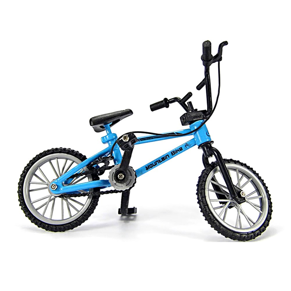 Miniature Metal Extreme Sports Finger Bicycle Mountain Bike Cool Boy Toys Creative Game Gift Blue