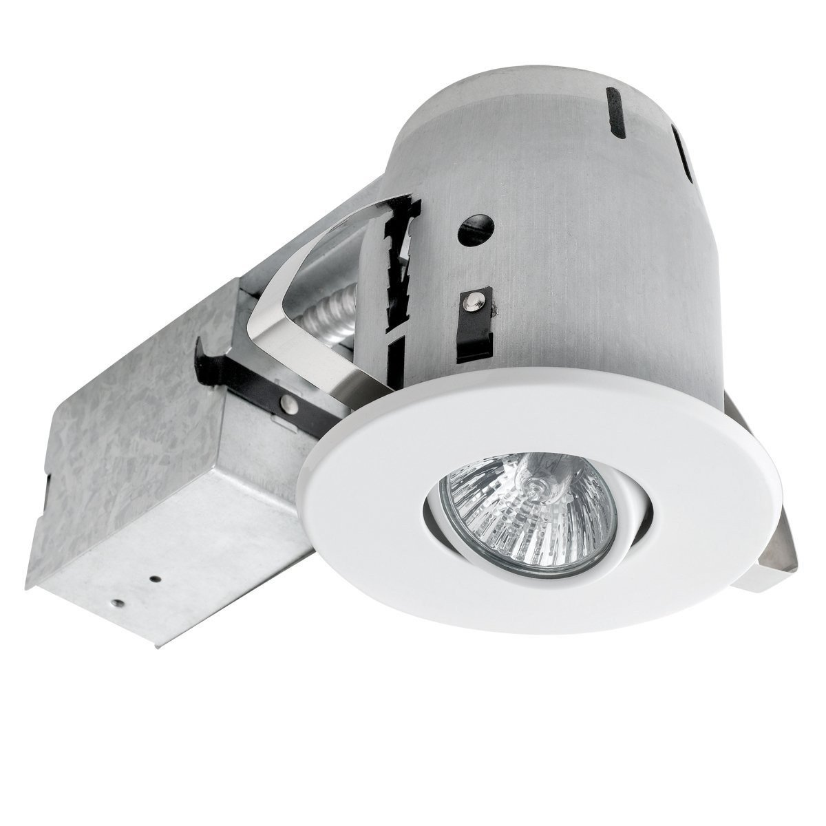 Globe electric 4 swivel spotlight recessed lighting kit 10 pack globe electric 4 swivel spotlight recessed lighting kit 10 pack dimmable downlight round trim white finish easy install push n click clips 90540 mozeypictures Gallery