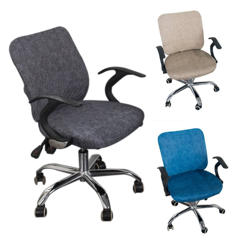 Split Seat Cover Office Computer Chair Cover Stretchable Removable Elastic Cotton Chair Office Rotating Chair Pure Color Chair Cover Modern Simplism Style No Chairs Buy Online In Cayman Islands At Cayman Desertcart Com Productid