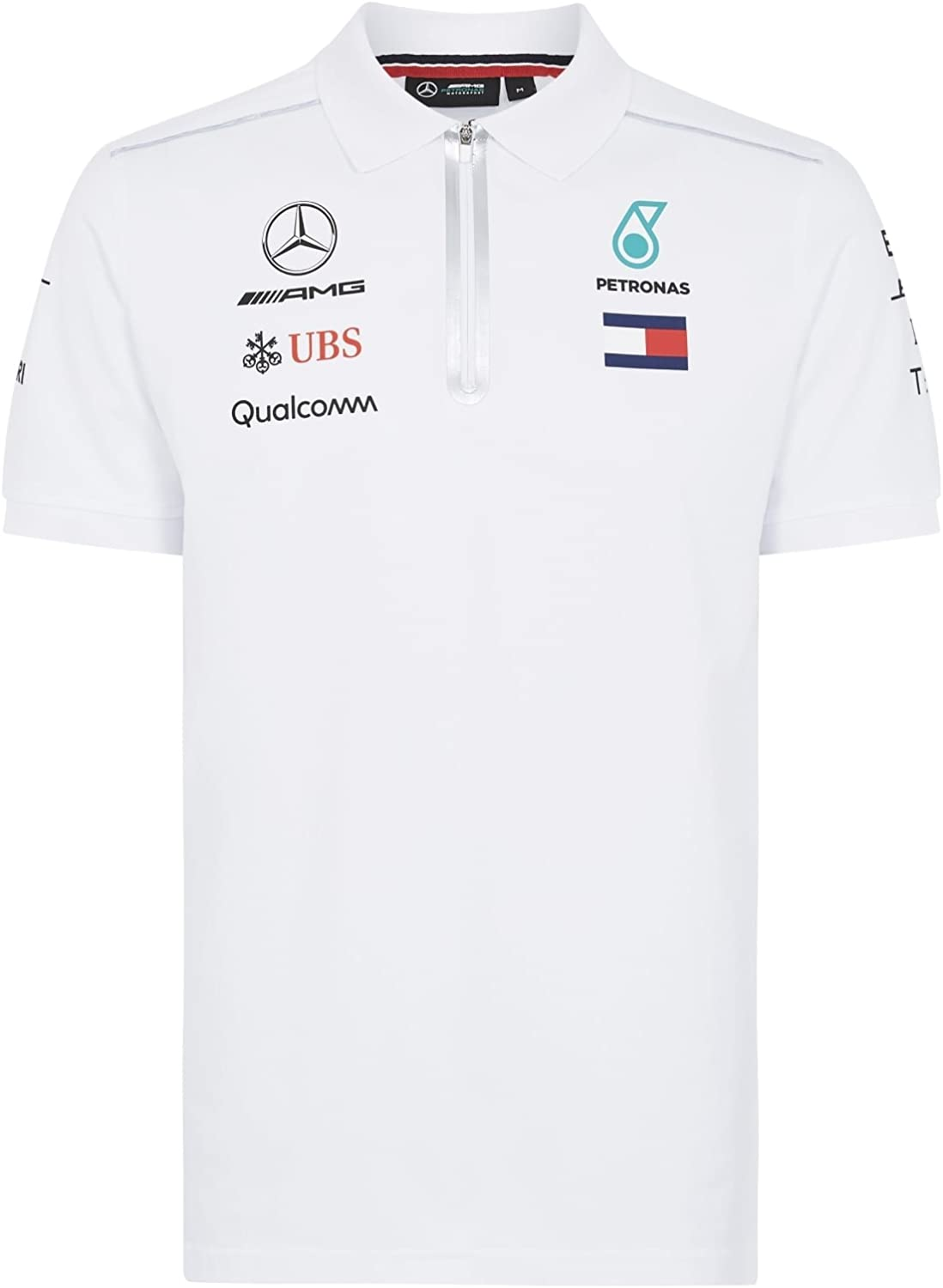 Mercedes AMG Petronas F1 Mens White Polo 2018 XXL: Amazon.es: Ropa ...