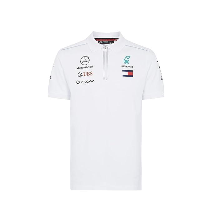 Mercedes AMG Petronas F1 Mens White Polo 2018 XXL: Amazon.es: Ropa ...