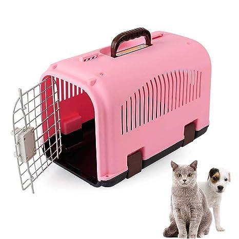 FXQIN Transportín Rígido de Gato, Portador de plástico para ...