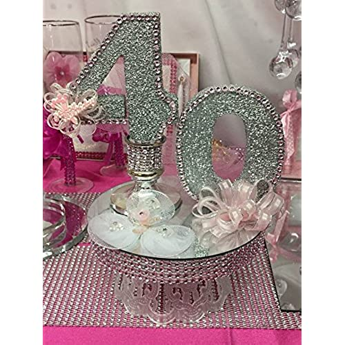 40th Birthday Cake Topper Table Centerpiece Decoration Party Supplies