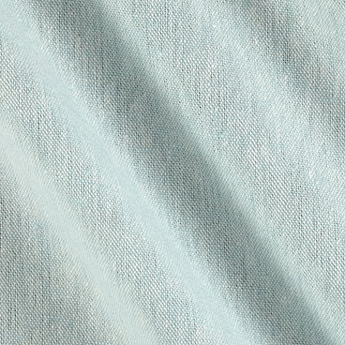 Robert Kaufman Essex Yarn Dyed Linen Blend Aqua Fabric by The Yard