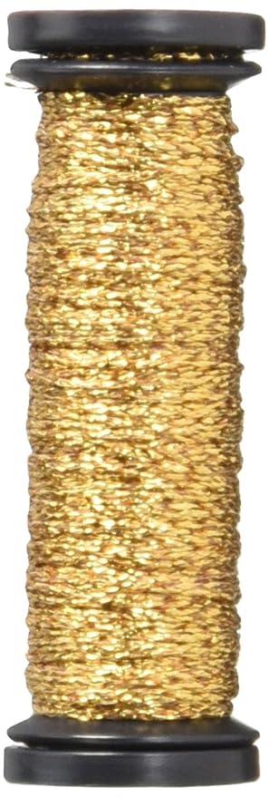 Kreinik VF-221  Very Fine Metallic Braid #4 12yd-Antique Gold
