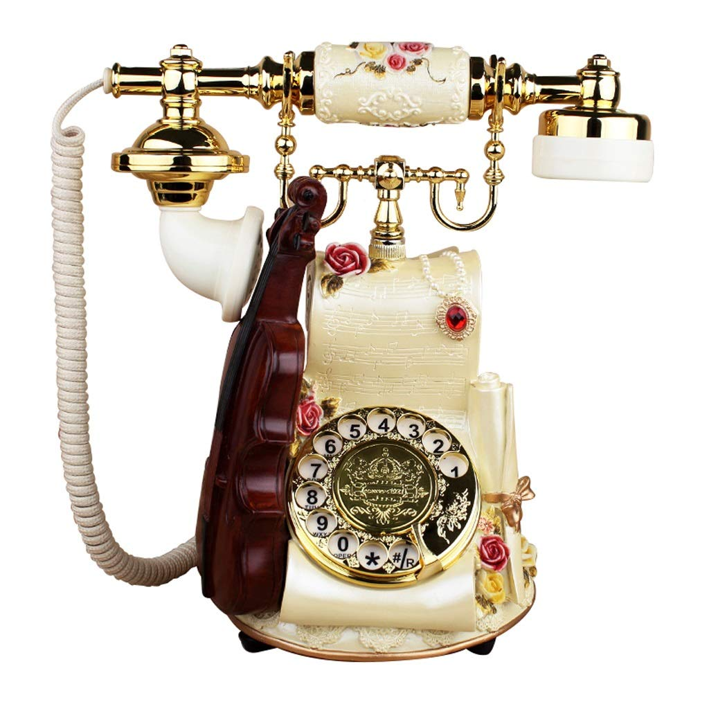 LCM Antique Home Phone - Push Button and Rotary Phone - Corded Retro Telephone -Vintage Decorative Phone - Home landline and Office Phone by LCM