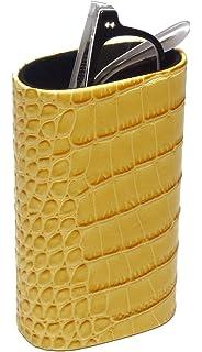 568a4fd485ac Desktop Eyeglass Holder w Soft Lining CA-500 (Yellow Snakeskin) by Calabria