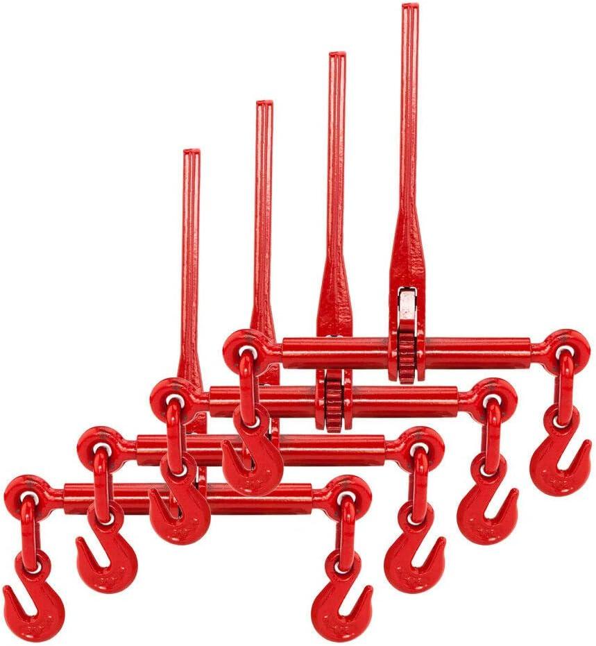 "AAIN 4x Ratchet Chain Load Lever Binder 1//2/""-5//8/"",Grade 70//43,13000 lbs MAX Load"
