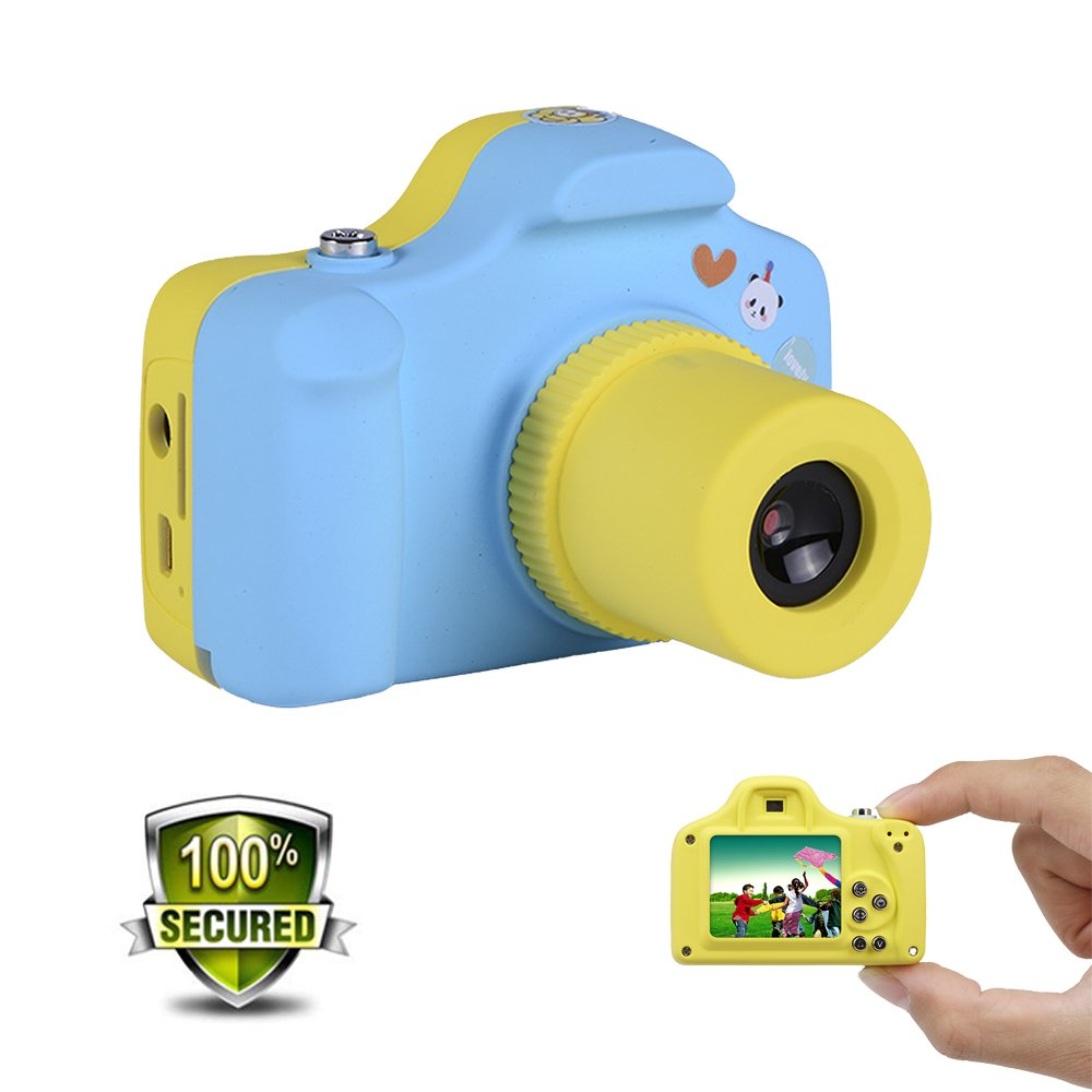 Cainda Small Digital Camera for kids, 2 Mega Pixels Full HD 1080P, Great Mini Children Camera to Catch Every Wonderful Moment of Life, The Best Gifts for Kids-Blue