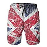 Newest British England Flag Patriot Men's Swim Trunks Board Shorts Quick Dry Beach Wear