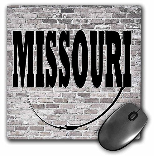 3dRose RinaPiro - US States - Missouri. State Capital is Jefferson City. - MousePad (Jefferson Towel)
