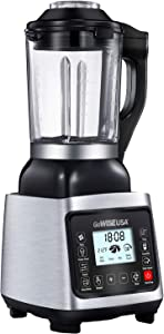 GoWISE GW22501 Premier High Performance Heating Blender with 6 Blending Presets and Recipe Book, Black