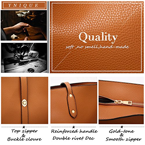 For Ynique Bags Wallets Shoulder Satchel Purses Women Handbags Tote Brown And 6CTI6