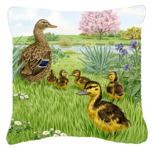 Caroline's Treasures ASAD0693PW1818 Mallard & Ducklings b...