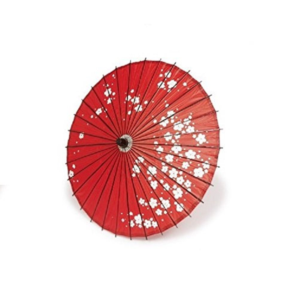 Bamboo Japanese Style Parasol Odori Gasa Cosplay 16.5 x 31.4 inches From Japan (Red Plum)