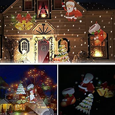 4 Patterns Moving Laser Projector LED Lights Outdoor Christmas Decoration Lamp