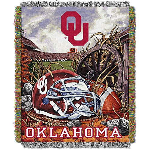 The Northwest Company Oklahoma Sooners Home Field Advantage Woven Tapestry Throw