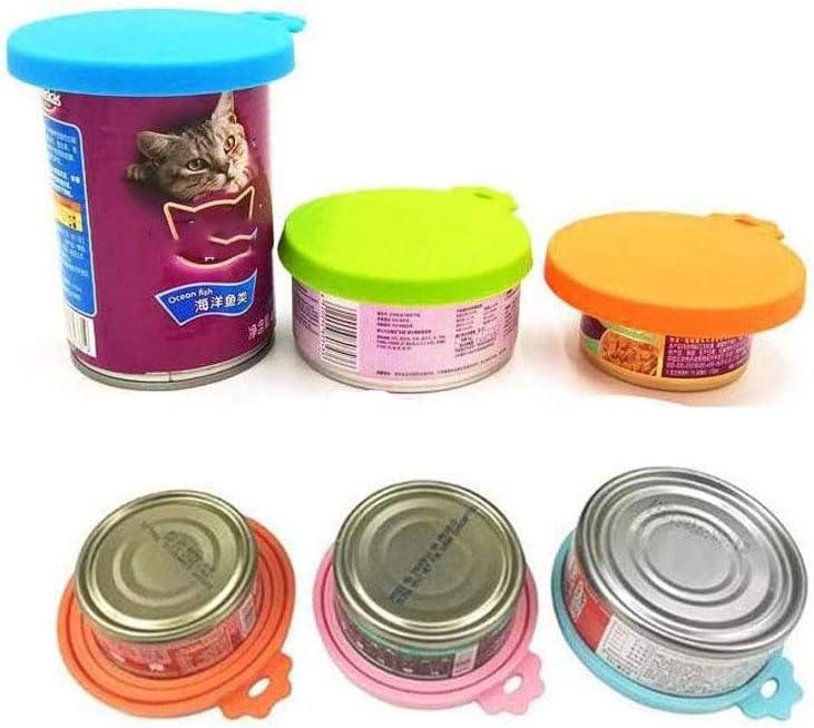 5 Pezzi di Coperchi per Lattine in Silicone e Cucchiaio per Alimentazione Lunga Coperchio per Alimenti per Alimenti per Animali Domestici Coperchi per Lattine per Alimenti per Animali Domestici