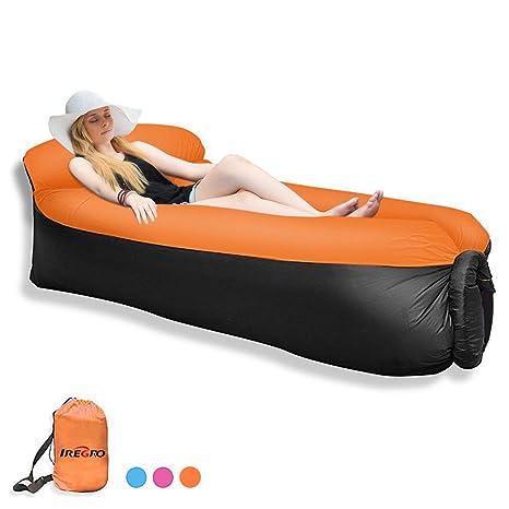 Qomolo Sofá inflable del ocioso con la almohada, sofa hinchable ...