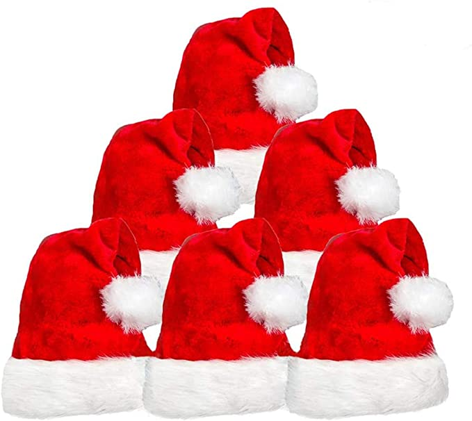 3pk Santa Hat for Adults Kids Christmas Party Supplies Costume Xmas Gag Gifts