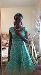 Sidecca Retro 1950s Polka Dot Smock Swing Dress Purple