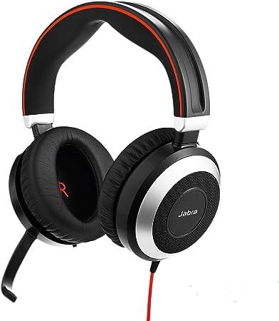 Jabra Evolve 80 Ms Stereo Over Ear Headset Microsoft Teams Zertifizierte Kopfhörer Mit Aktivem Noise Cancelling Usb C Kabel Und 3 5 Mm Klinke Schwarz Elektronik