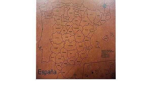 Maqueta Puzzle Provincias España: Amazon.es: Libros