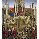 Canvas Prints Of Oil Painting 'Eyck Jan Van The Fountain Of Grace, The Triumph Of The Church Over The Synagogue 1430' 30 x 34 inch / 76 x 86 cm , Polyster Canvas, Basement, Foyer, Kids Room Decoration