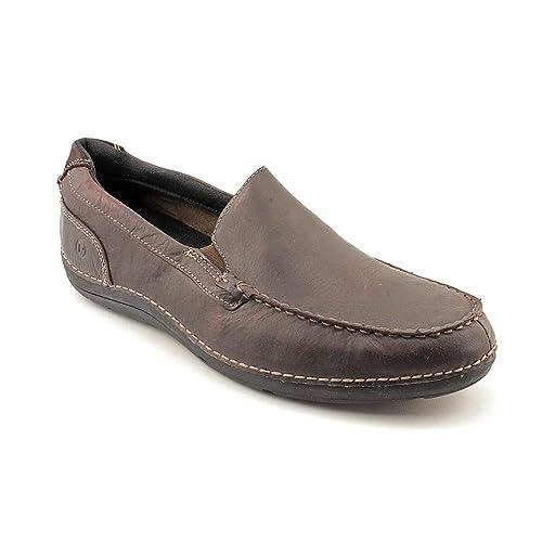 Rockport TTW Slip On - Mocasines de cuero para hombre marrón Dk Brown, color marrón, talla 45: Amazon.es: Zapatos y complementos