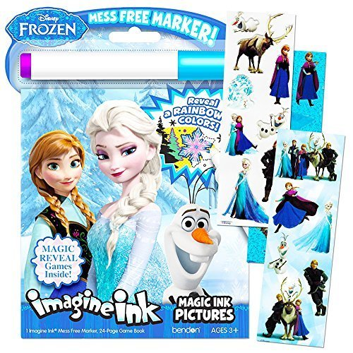 Disney Frozen Imagine Ink Book And Frozen Sticker Pack Set