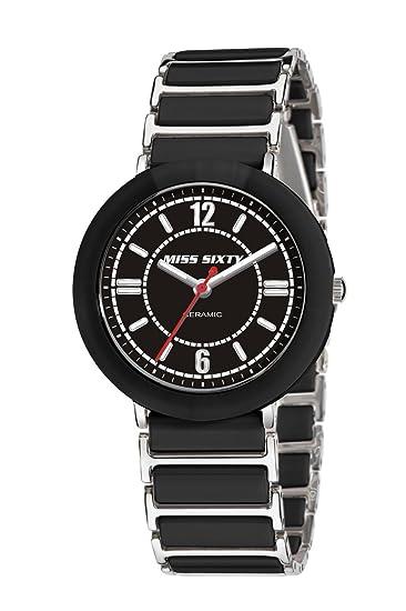 Miss Sixty Sir001 - Reloj para niñas de cuarzo, correa de cerámica color negro: Amazon.es: Relojes