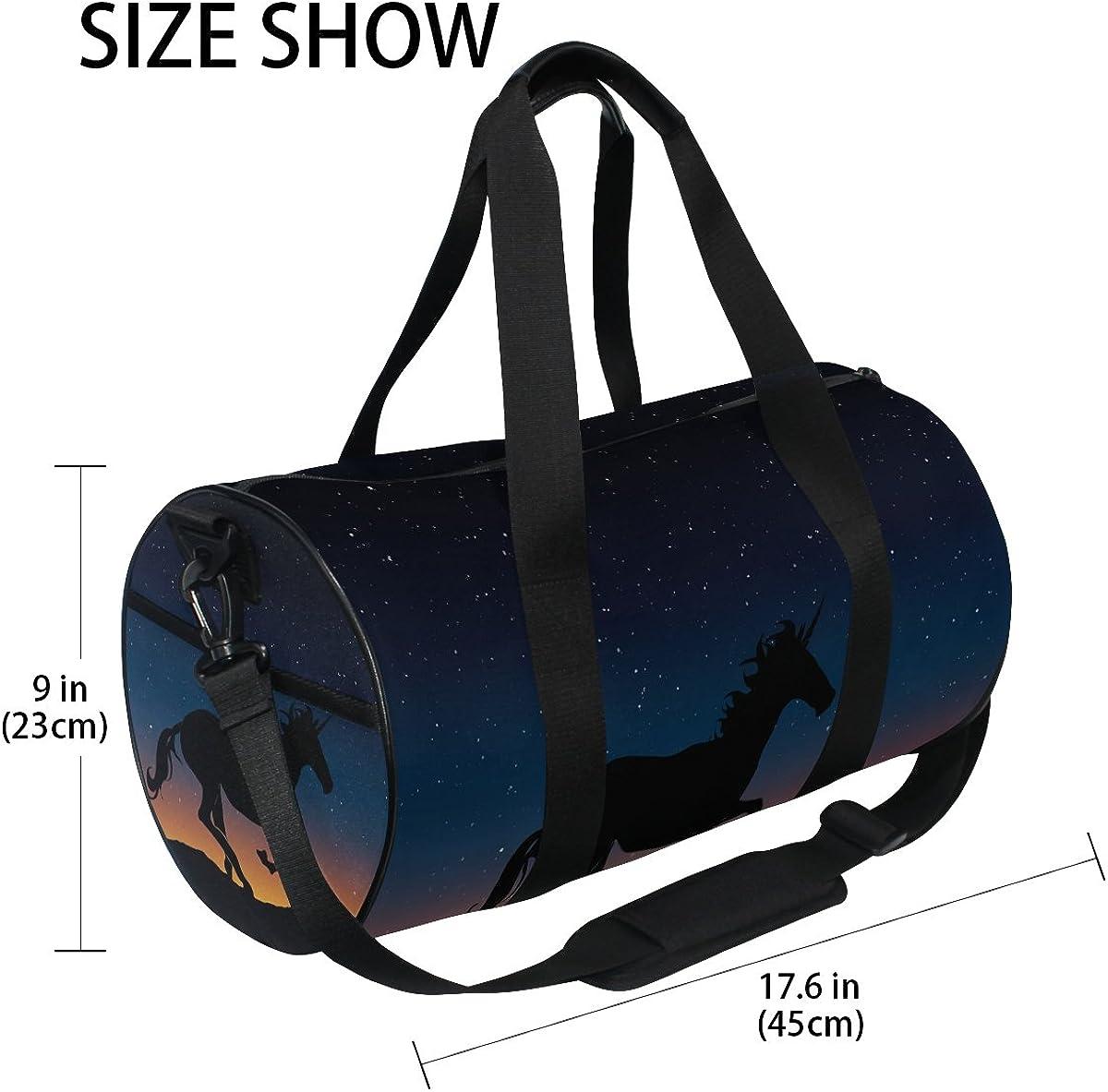 Evolutions Unicorn Duffels Bag Sports Gym Bags for Men /& Women