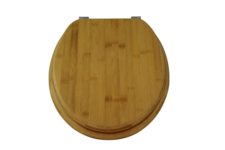 EISL EDBA Asiento para inodoro de bambú oscuro