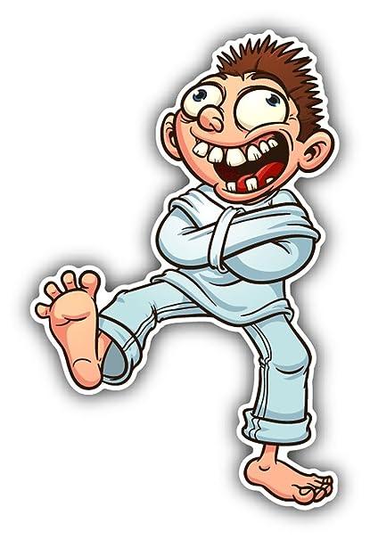 guy straight jacket crazy cartoon sticker decal design 3 x 5