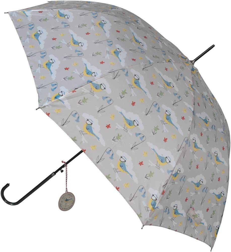 Ladies Waterproof Umbrella Choice of Design Blue Tit