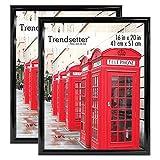 MCS Trendsetter Poster Frame (2 Pack), 16 X 20-Inch, Black