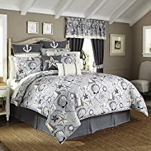 Croscill Yachtsman Coastal Print 4-piece Comforter Set King