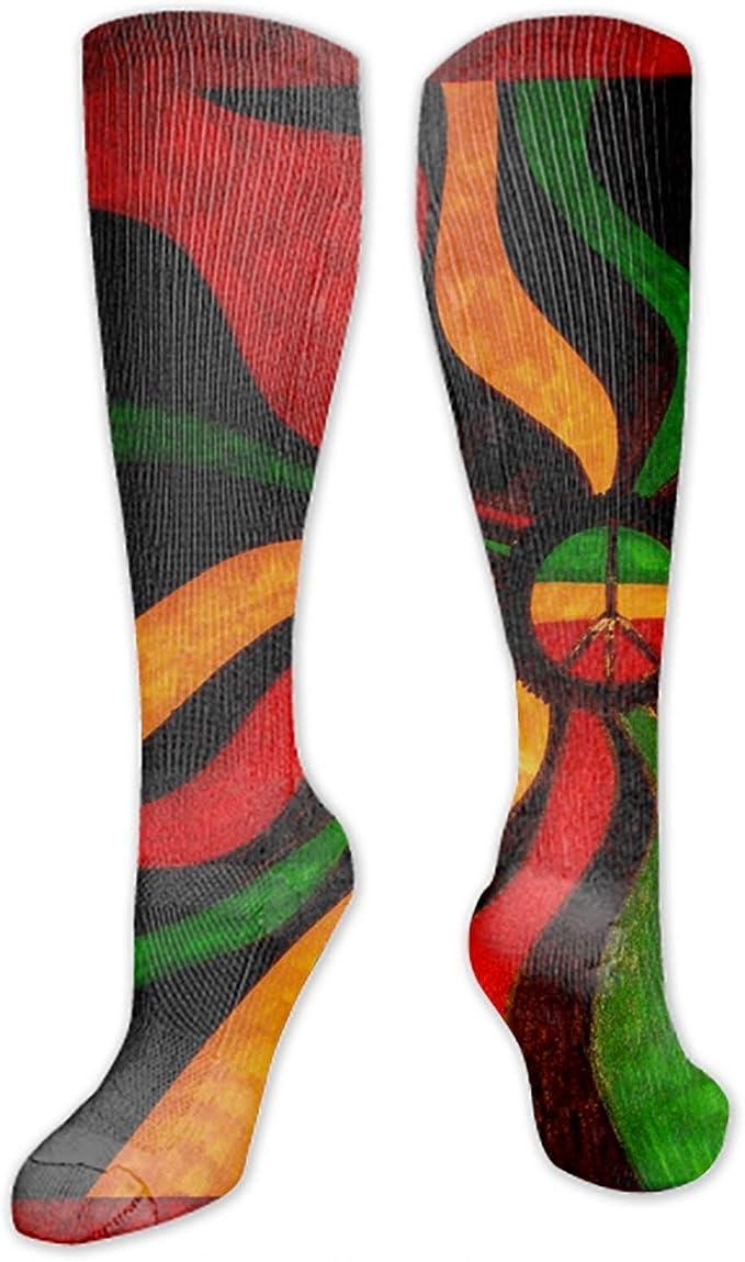 PHOSUP Women Socks Isolated Owl Cartoon Knit Over Stockings Girls Tall Long Boot Leg Warmers