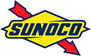 Sunoco Logo OriginalStickers0750 Set of Two (2X) Stickers , Laptop , Ipad , Car , Truck , Size 4 inches on Longer Side