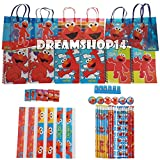Sesame Street Elmo Party Favor Stationery Set - 6 Pack (54 Pcs) Medium Sized Bag