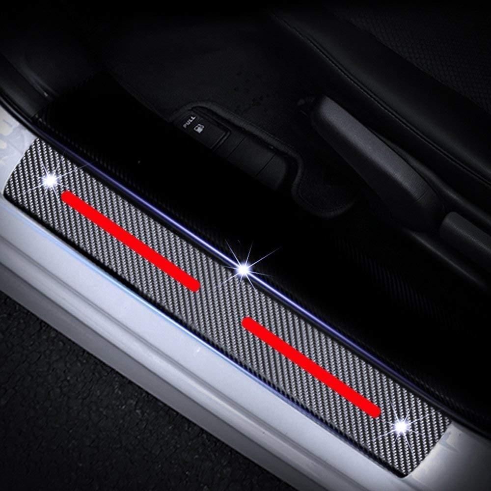 Scuff Plates Cover Car Door Sills Protector Paint Protection Films for Celerio Swift Baleno Jimny Vitara S-cross Front Rear Kick Plates Blue 4Pcs
