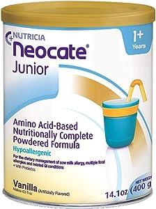 Neocate Junior with Prebiotics, Vanilla, 14.1 oz / 400 g (Case of 4 cans)