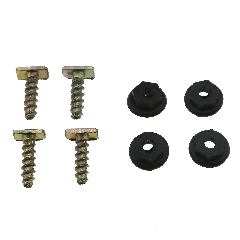 Front Wheel Trim Clips Metal Screw Plastic nut Set