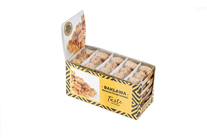 Taste Shukran, Baklawa Snack Surtido de dulce - 20 Snack (c/u 3